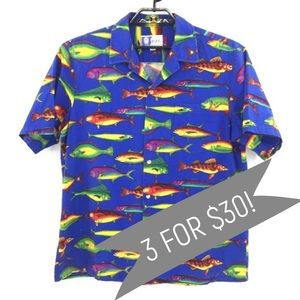 ➡️HP⬅️ Men's Vintage RJC Hawaiian Shirt Size XL